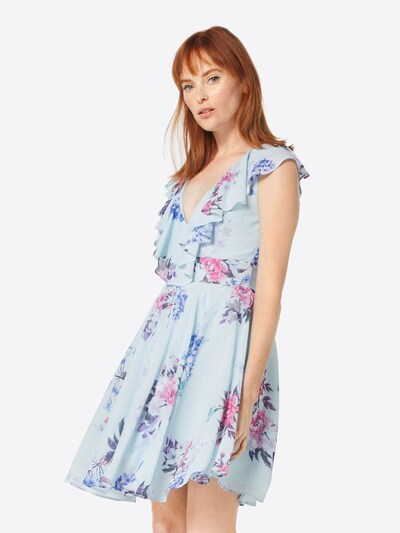 TFNC Kleid in hellblau, Modelansicht