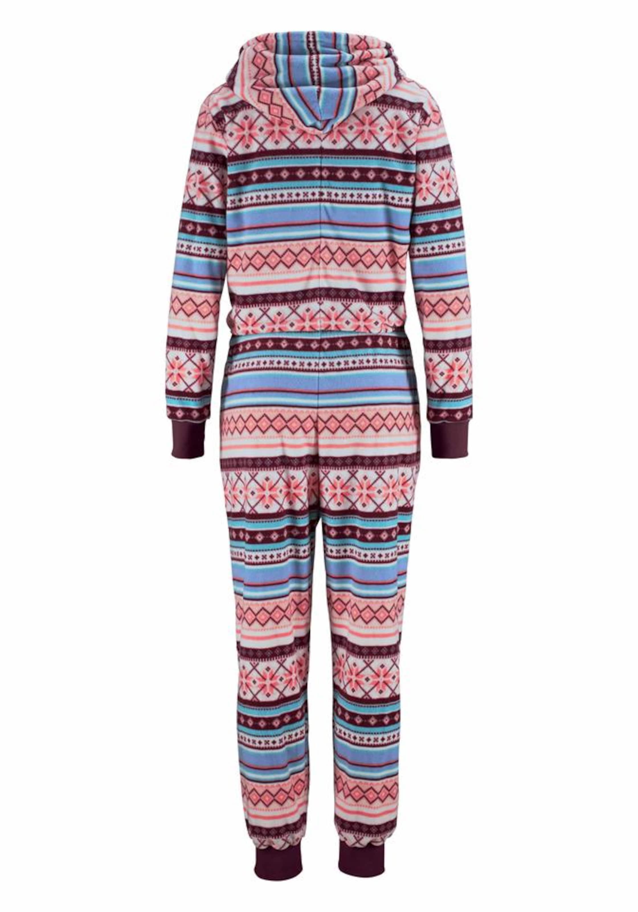 Niedrige Versandgebühr Verkauf Online Günstig Kaufen Billig BENCH Relax-Jumpsuit mit buntem Norwegermuster Suche Zum Verkauf Rabatt Erstaunlicher Preis ZVpUeJRg0