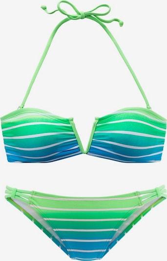 VENICE BEACH Bikini in de kleur Hemelsblauw / Neongroen / Wit, Productweergave