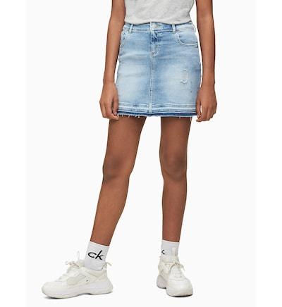 Calvin Klein Jeans Rock in blue denim: Frontalansicht