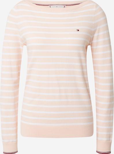 TOMMY HILFIGER Pullover 'NEW IVY' in koralle / weiß, Produktansicht