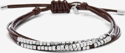 FOSSIL Armband in braun / silber, Produktansicht