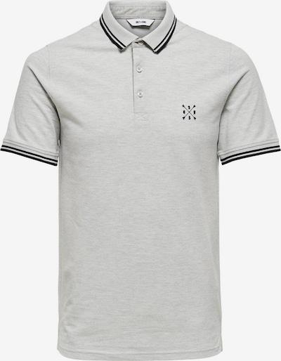 Only & Sons Poloshirt in hellgrau / schwarz: Frontalansicht