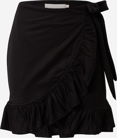 PIECES Sukňa 'Cora' - čierna: Pohľad spredu