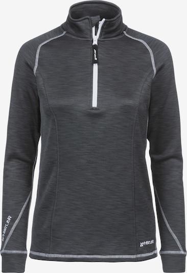 Whistler Fleeceshirt 'Bartlett' in dunkelgrau, Produktansicht