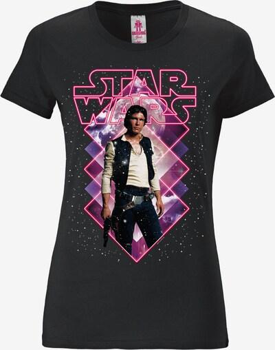 LOGOSHIRT T-Shirt in pink / schwarz, Produktansicht
