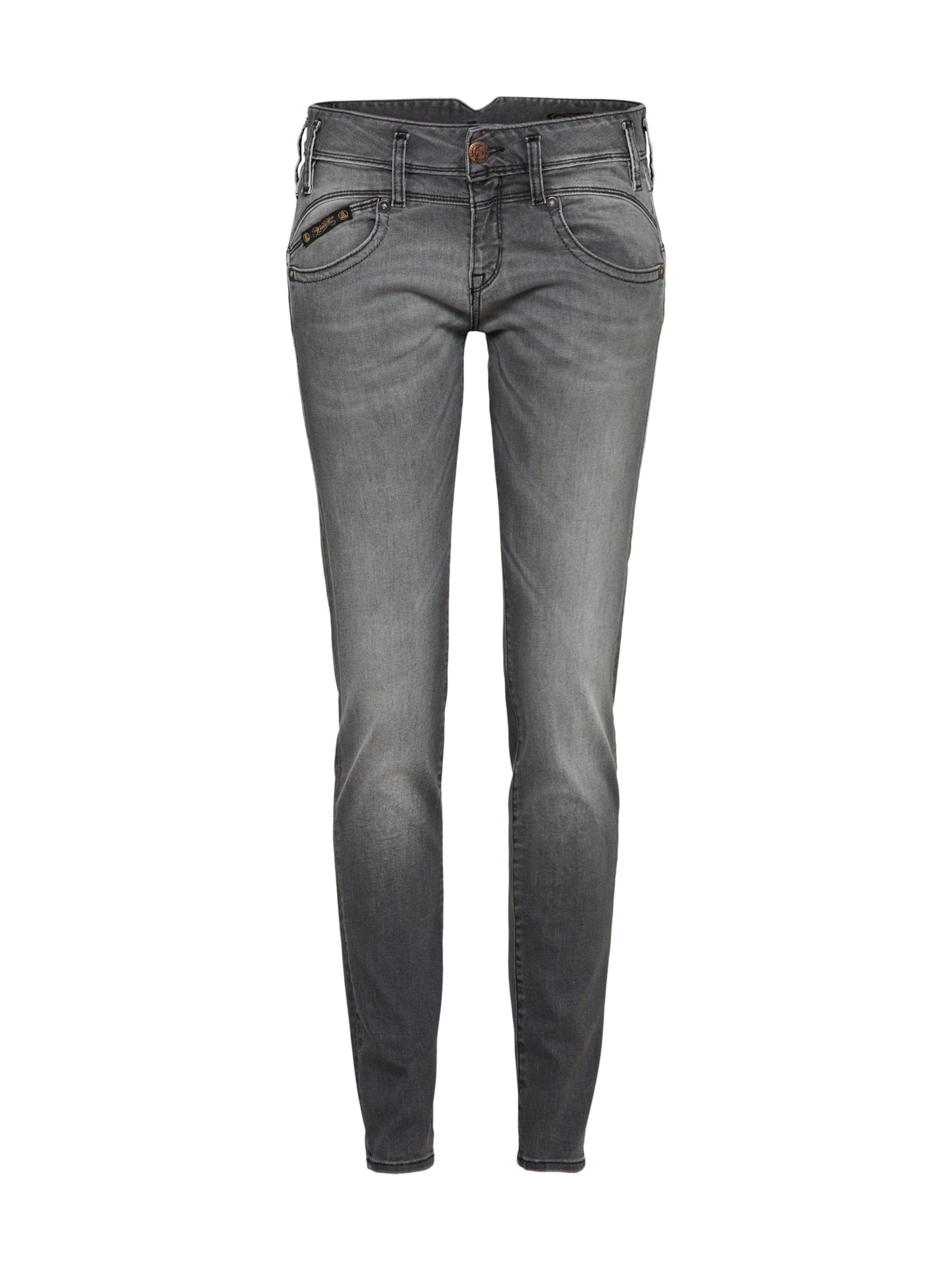 Slim' In Grijs Jeans Herrlicher 'pearl uTcKF1lJ3