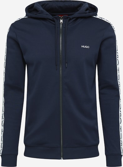 HUGO Sweatjacke 'Dalny' in blau / weiß, Produktansicht