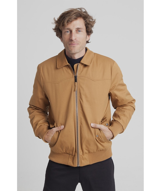 Thinking MU Jacke 'Harry Jacket' in hellbraun, Produktansicht