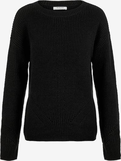 PIECES Pullover in schwarz, Produktansicht