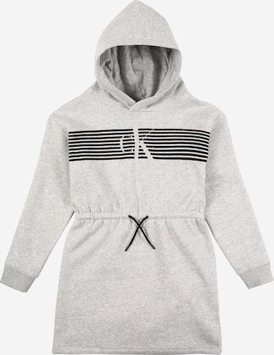 Calvin Klein Jeans Robe en gris chiné / noir: Vue de face