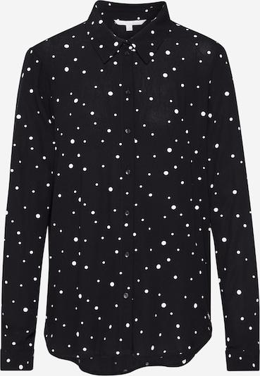 TOM TAILOR DENIM Bluse in schwarz / weiß, Produktansicht