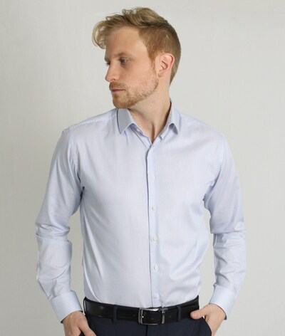 CARPASUS Hemd ' Classic ' in rauchblau: Frontalansicht