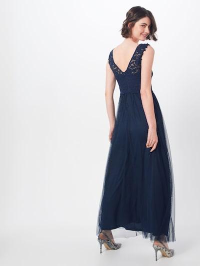 VILA Avondjurk 'Lynnea' in de kleur Donkerblauw: Achteraanzicht