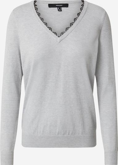 VERO MODA Pullover in hellgrau / schwarz, Produktansicht