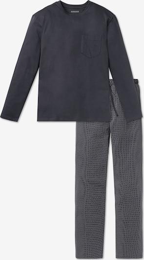 Pijama lungă SCHIESSER pe gri metalic, Vizualizare produs
