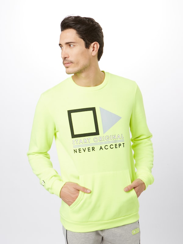 Hailys Men Sweatshirt 'Neon Flight' in neongelb: Frontalansicht