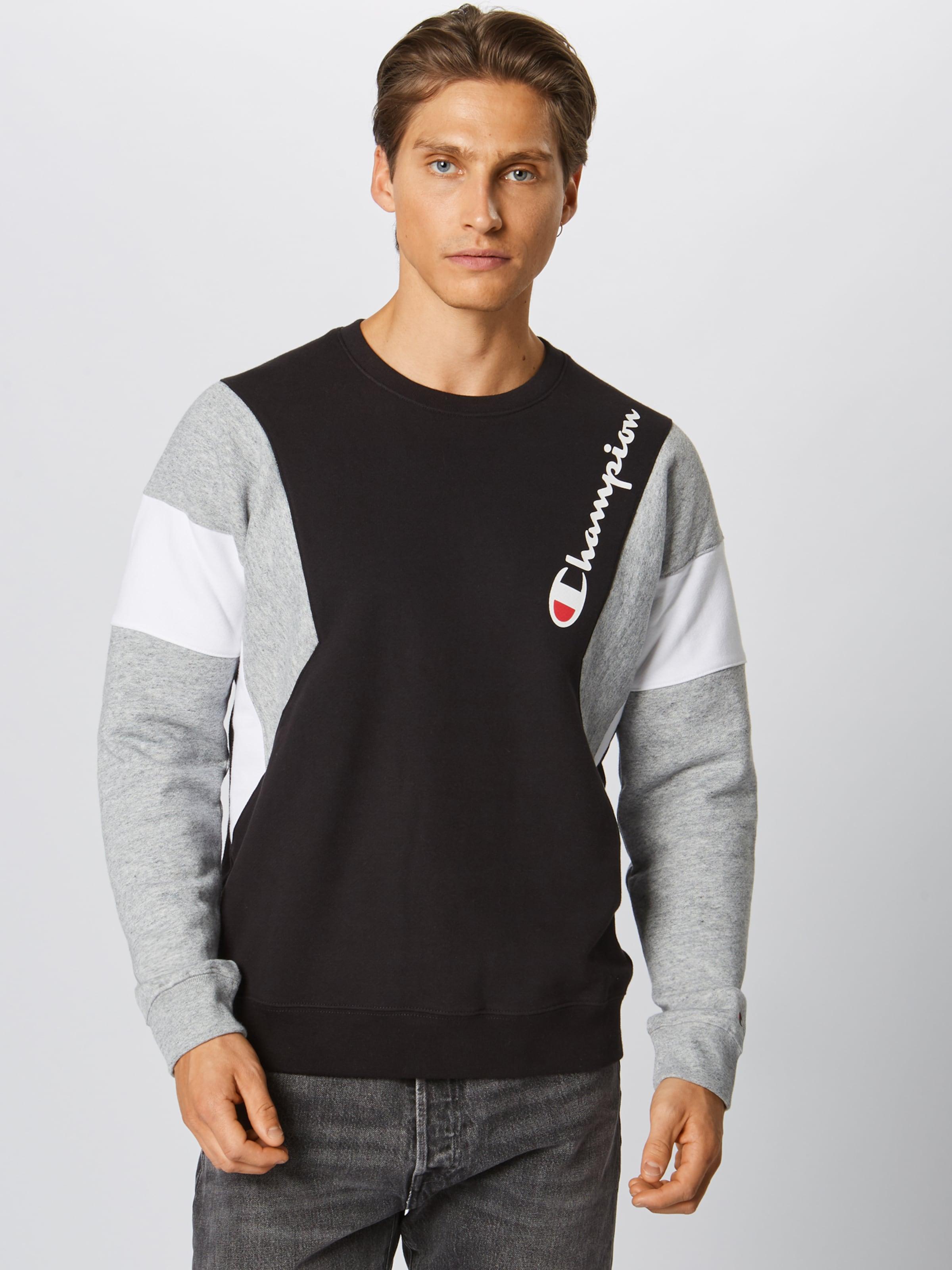 Authentic GrauSchwarz Apparel In Weiß Champion Athletic Sweatshirt OTXkZPiu