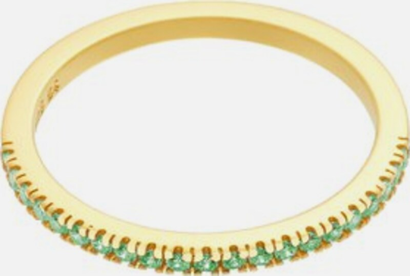 ID Fine Ring 'Green Simplicity' in gold / hellgrün: Frontalansicht