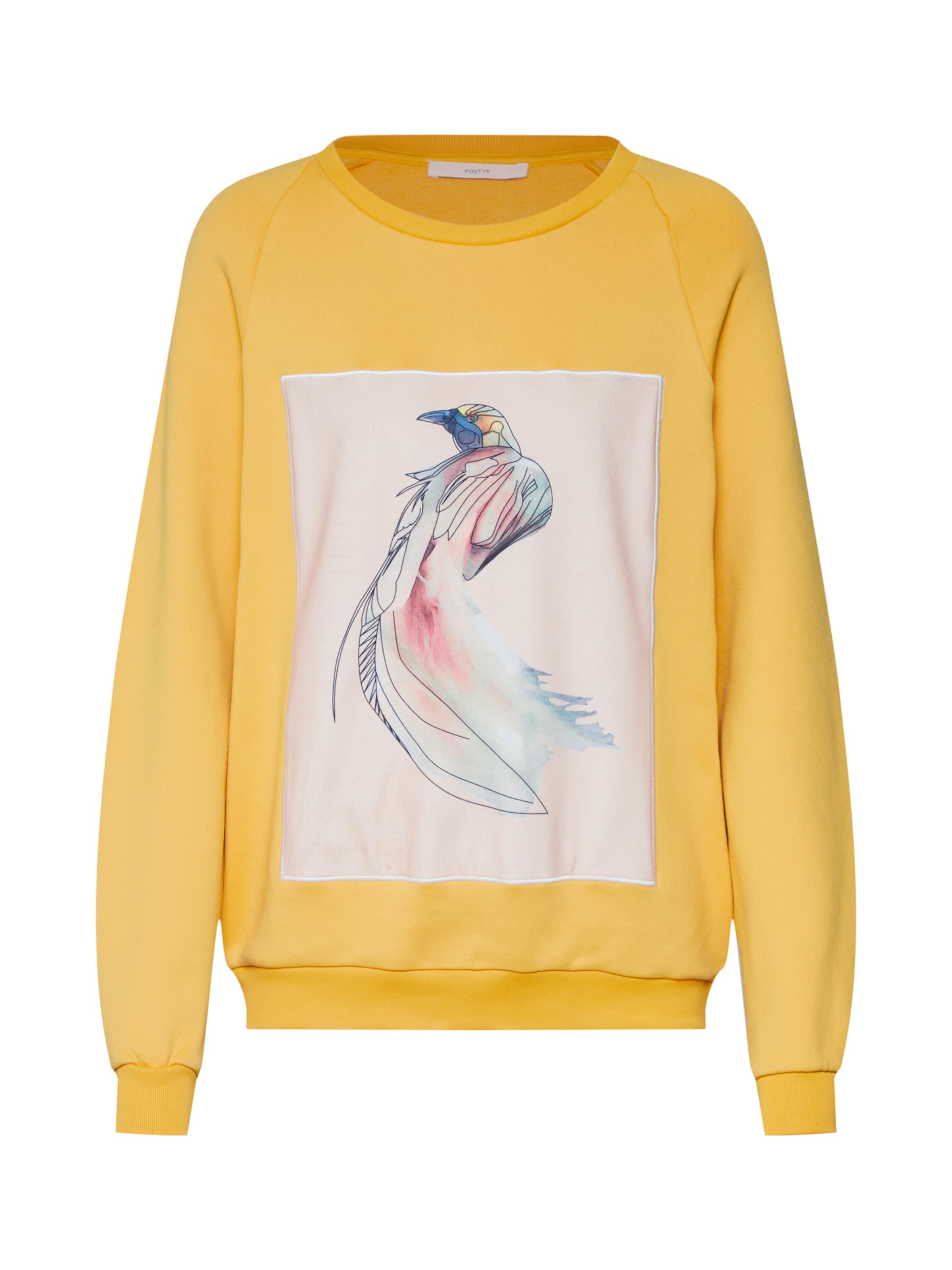 'posirene JauneBlanc Sweat Postyr Bird Sweat' shirt En Yyvbf7g6