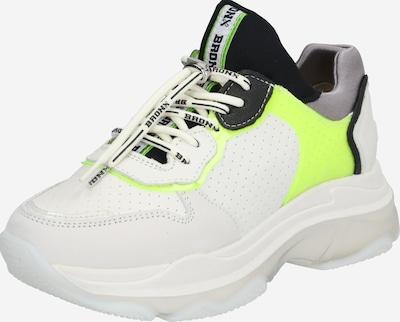 BRONX Sneaker in gelb / schwarz / weiß: Frontalansicht