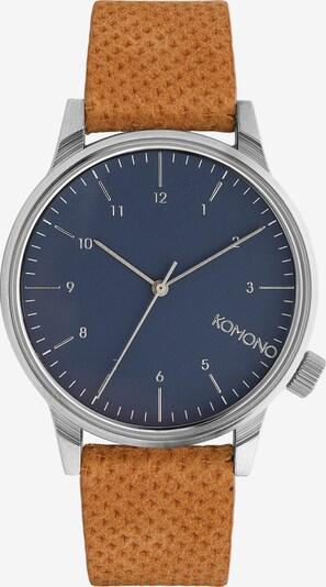 Komono Uhr 'Winston' in navy / cognac / silber, Produktansicht
