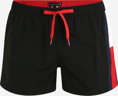 Tommy Hilfiger Underwear Plavecké šortky 'DRAWSTRING' - černá: Pohled zepředu