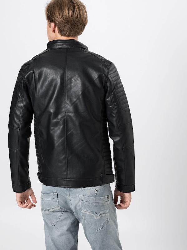 'finn En Biker Pier One Veste Jacket' Noir Mi saison wkN8X0OnPZ
