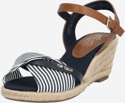 TOM TAILOR Páskové sandály - modrá / hnědá / bílá, Produkt
