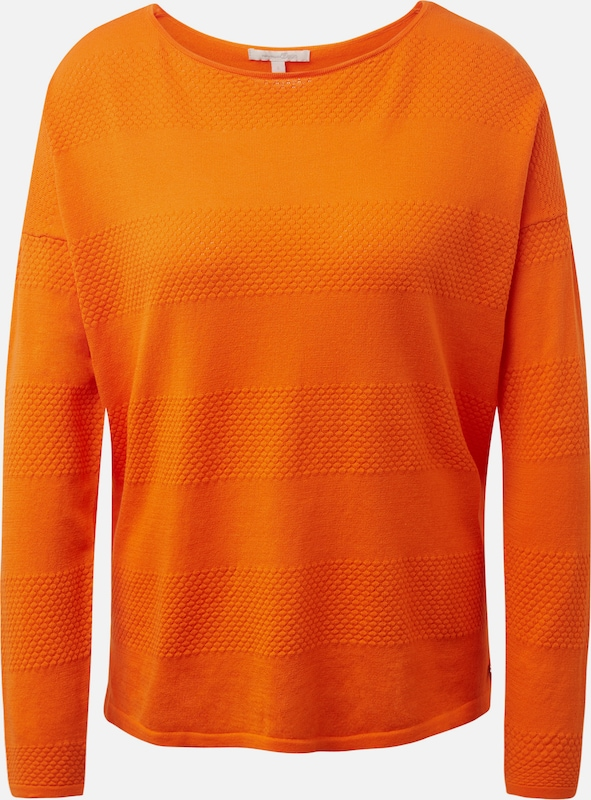 TOM TAILOR DENIM Pullover in dunkelorange, Produktansicht