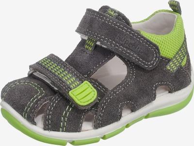 SUPERFIT Open schoenen in de kleur Donkergrijs / Kiwi, Productweergave