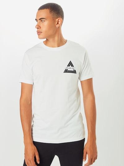 Mister Tee T-Shirt 'Triangle' in schwarz / weiß: Frontalansicht