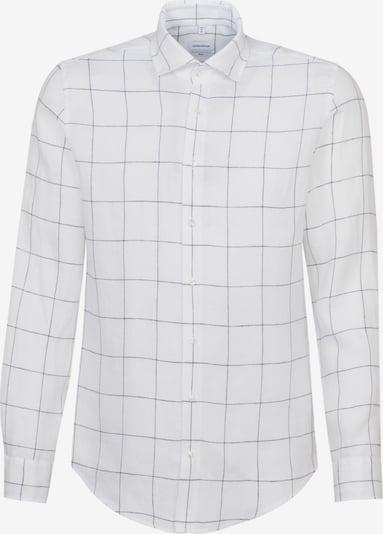 SEIDENSTICKER Hemd in dunkelgrau / weiß, Produktansicht
