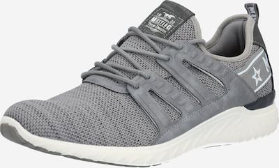 MUSTANG Sneaker in grau / schwarz / weiß, Produktansicht
