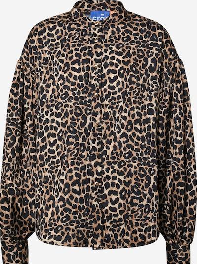 Camicia da donna Crās di colore marrone / nero, Visualizzazione prodotti