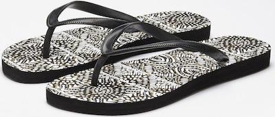 LASCANA Strandpantolette in schwarz / weiß, Produktansicht