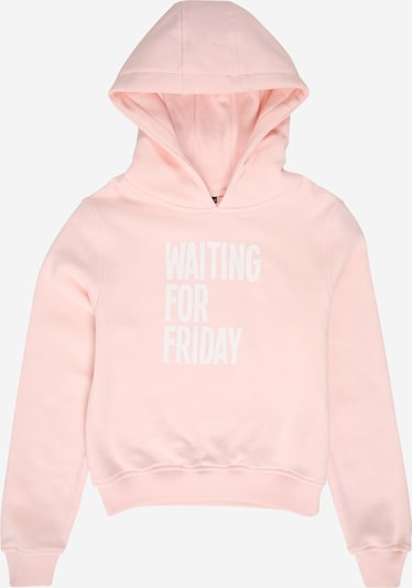 Mister Tee Sweat-shirt 'Waiting For Friday' en rose clair / blanc, Vue avec produit