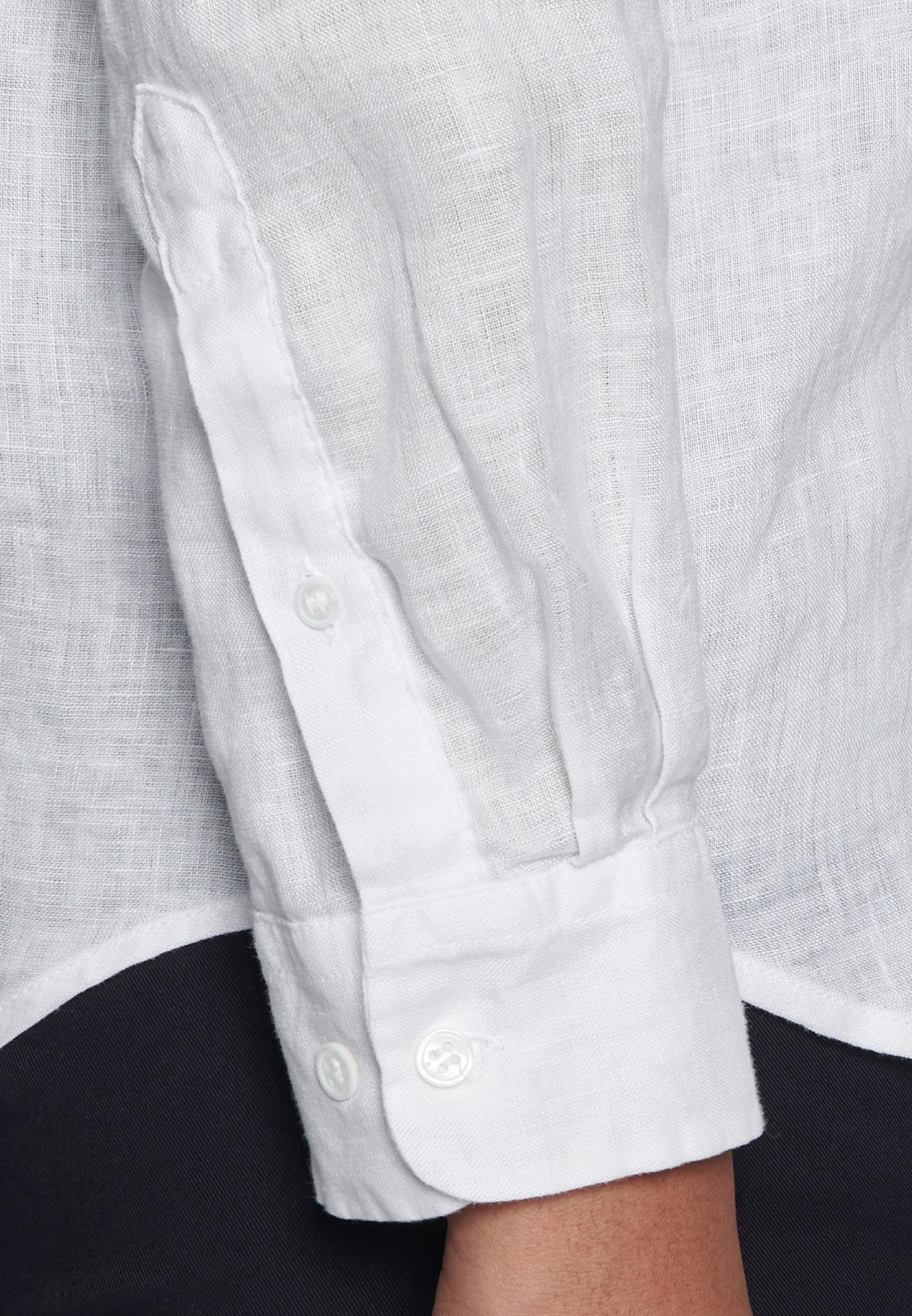 Schwarze Seidensticker Hemdbluse Rose ' Weiß In ZukOPiX