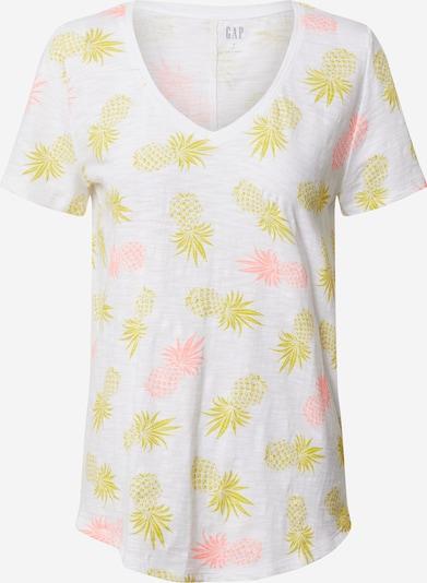 GAP Shirt 'V-SS EASY V NVL' in gelb / neonpink / weiß, Produktansicht