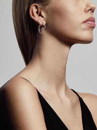 ezüst Pilgrim Fülbevalók 'Layla', Modell nézet