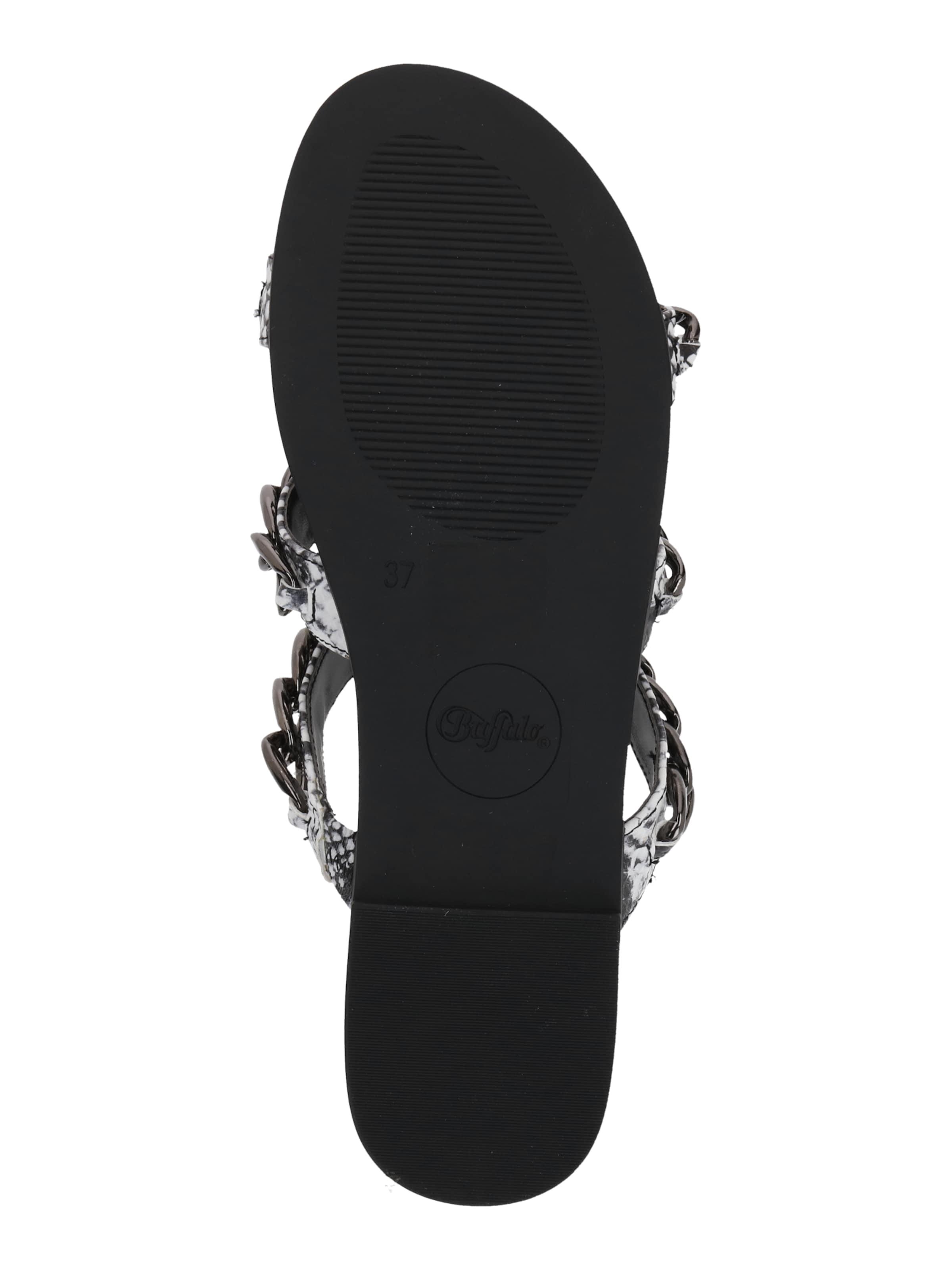 BUFFALO Sandal i antracit / silver / vit