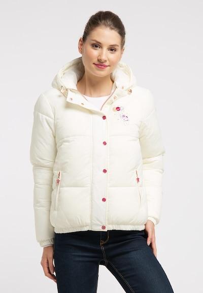 MYMO Winterjas in de kleur Wit: Vooraanzicht