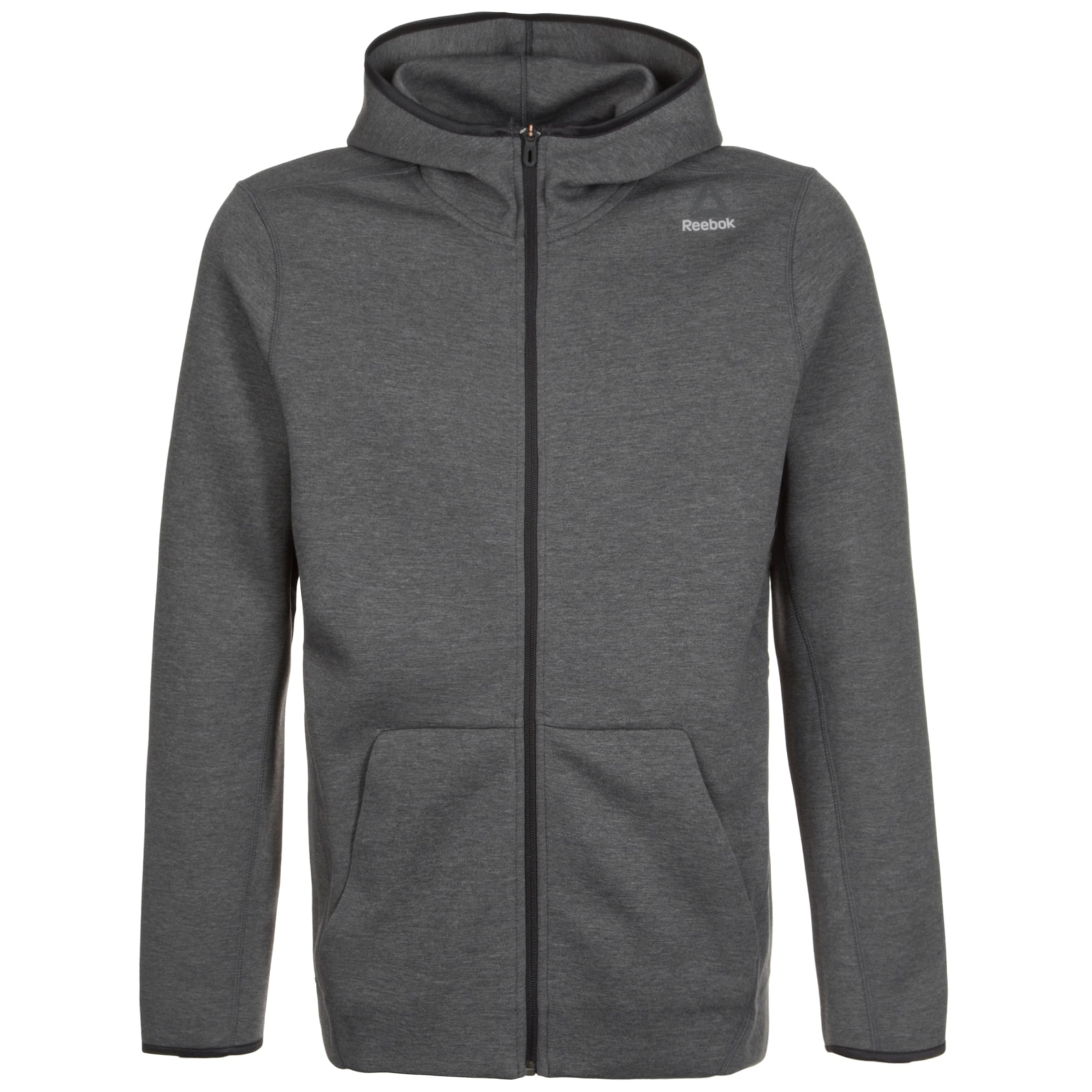 In Herren Cotton Trainingskapuzenjacke Reebok Grau Quik D9EHIW2
