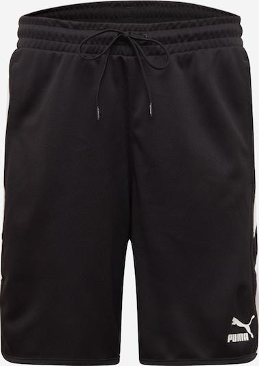 PUMA Športne hlače | črna / bela barva, Prikaz izdelka