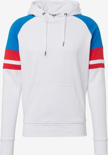 Urban Classics Sweatshirt 'Raglan Racing' in blau / rot / weiß, Produktansicht