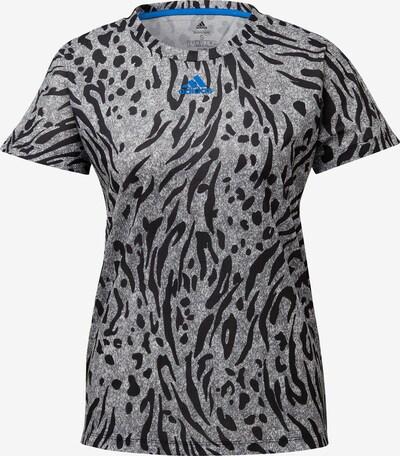 ADIDAS PERFORMANCE T-shirt fonctionnel en bleu ciel / gris / noir, Vue avec produit