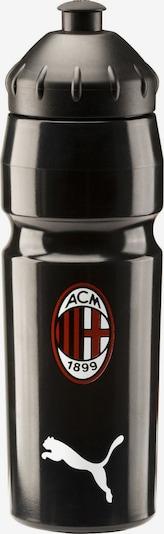 PUMA 'AC Milan' Trinkflasche in dunkelrot / schwarz, Produktansicht