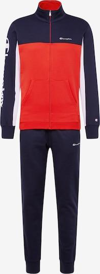 Champion Authentic Athletic Apparel Freizeitanzüge 'Full Zip Suit' in navy / rot / weiß, Produktansicht