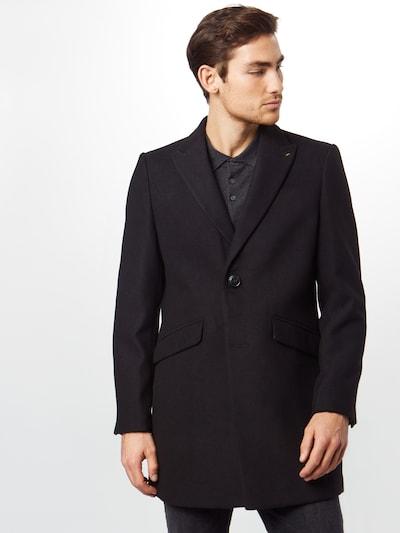 BURTON MENSWEAR LONDON Manteau mi-saison 'faux crombie all' en noir, Vue avec modèle