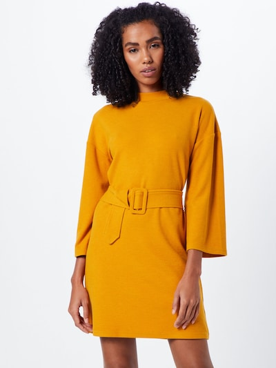 MINKPINK Kleid  'ERICA WAFFLE' in gelb / curry / orange, Modelansicht